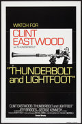 "Movie Posters:Crime, Thunderbolt and Lightfoot (United Artists, 1974). One Sheet (27"" X41"") Flat Folded Advance. Crime.. ..."