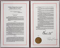 Autographs:U.S. Presidents, [Bill Clinton] Three Documents Relating to the Impeachment ofPresident Clinton: (1) The Articles of Impeachment Against Presi...(Total: 3 Items)
