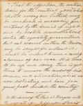 """Autographs:Military Figures, Jefferson Davis Autograph Quotation Signed from his book, TheRise and Fall of the Confederate Government. One page, 5"""" ..."""
