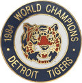"Baseball Collectibles:Pins, 1984 Detroit Tigers ""World Champions"" Pinback Button...."