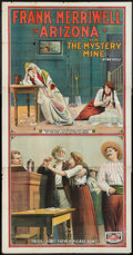 """Movie Posters:Action, Frank Merriwell in Arizona (Tip Top, 1910). Three Sheet (41"""" X 81""""). Action.. ..."""