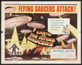 "Movie Posters:Science Fiction, Earth vs. the Flying Saucers (Columbia, 1956). Half Sheet (22"" X28"") Style B. Science Fiction.. ..."