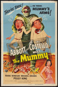 "Movie Posters:Comedy, Abbott and Costello Meet the Mummy (Universal International, 1955).One Sheet (27"" X 41""). Comedy.. ..."