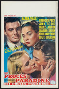 """Movie Posters:Hitchcock, The Paradine Case (Selznick, 1948 and R-1956). Belgian (14.5"""" X22""""), Lobby Cards (2) (11"""" X 14""""), Hardcover Book (5.5"""" X 8....(Total: 8 Items)"""