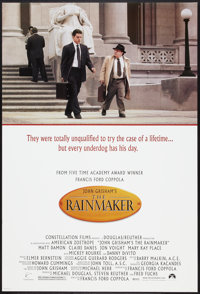 "The Rainmaker (Paramount, 1997). One Sheet (27"" X 40"") DS. Thriller"