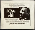 "Movie Posters:Documentary, King: A Filmed Record...Montgomery to Memphis (Maron Films, 1970). Half Sheet (22"" X 28""). Documentary.. ..."