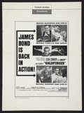 "Movie Posters:James Bond, Goldfinger Lot (United Artists, 1964). Pressbooks (2) (MultiplePages, 13.25"" X 18""). James Bond.. ... (Total: 2 Items)"
