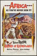 """Movie Posters:Adventure, Killers of Kilimanjaro (Columbia, 1960). One Sheet (27"""" X 41"""") andLobby Card Set of 8 (11"""" X 14""""). Adventure.. ... (Total: 9 Items)"""