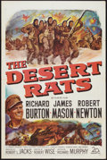 "Movie Posters:War, The Desert Rats (20th Century Fox, 1953). One Sheet (27"" X 41"").War.. ..."