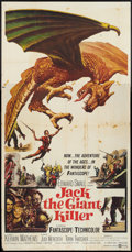 """Movie Posters:Fantasy, Jack the Giant Killer Lot (United Artists, 1962). Three Sheet (41""""X 81""""), One Sheet (27"""" X 41""""), and Lobby Cards (7) (11"""" X...(Total: 9 Items)"""