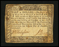Colonial Notes:Maryland, Maryland December 7, 1775 $1/2 Very Fine....