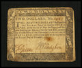 Colonial Notes:Maryland, Maryland December 7, 1775 $2 Fine....