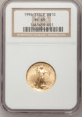 Modern Bullion Coins: , 1996 G$10 Quarter-Ounce Gold Eagle MS69 NGC. PCGS Population(227/2). Mintage: 60,318. Numismedia Wsl. P...