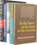 Books:First Editions, William H. Gass. Five Books, Four Signed, including:Omensetter's Luck. [and:] In the Heart of the Heart ofthe ... (Total: 5 Items)