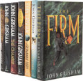 Books:Signed Editions, John Grisham. Seven Signed First Editions, including: TheFirm. [and:] The Pelican Brief. [and:] The Cli...(Total: 7 Items)