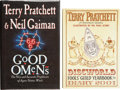 Books:Signed Editions, Terry Pratchett. Two Signed First Editions, including: GoodOmens (also signed by Neil Gaiman). [and:] Discw... (Total:2 Items)
