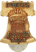 Baseball Collectibles:Pins, 1952 All Star Game Press Pin....