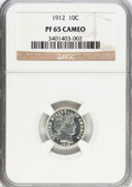 Proof Barber Dimes, 1912 10C PR65 Cameo NGC....
