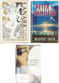 Books:Signed Editions, Three Signed Modern Science Fiction Books, including: Alasdair Gray. Lanark: A Life in 4 Books. 1985. Insc... (Total: 3 Items)