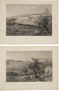 Antiques:Posters & Prints, Pair of Steel Engravings Featuring Scenes of Jerusalem Circa 1881.From Picturesque Palestine, Sinai and Egypt, Volume I...(Total: 2 Items)