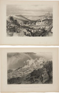 Antiques:Posters & Prints, Pair of Steel Engravings With Scenes of Nazareth and BethlehemCirca 1881. From Picturesque Palestine, Sinai and Egypt, Vo...(Total: 2 Items)