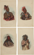Antiques:Posters & Prints, Sixteen Hand-Colored Engravings of American Indians.... (Total: 16Items)