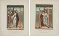 Antiques:Posters & Prints, Pair of 1858 Chromolithograph Illustrations Featuring 15th CenturyFrench Clothing.... (Total: 2 Items)
