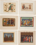 Antiques:Posters & Prints, Six 1858 Chromolithograph Illustrations of French Clothing Through the Centuries.... (Total: 6 Items)