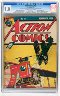 Golden Age (1938-1955):Superhero, Action Comics #18 (DC, 1939) CGC FR 1.0 Cream to off-white pages....