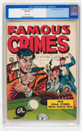 Golden Age (1938-1955):Crime, Famous Crimes #5 (Fox Features Syndicate, 1949) CGC VG 4.0 Off-white pages....