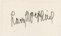 Baseball Collectibles:Others, Larry MacPhail Signed Index Card....