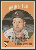 Baseball Collectibles:Others, 1959 Topps Nellie Fox Signed Card....