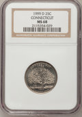 Statehood Quarters: , 1999-D 25C Connecticut MS68 NGC. NGC Census: (51/1). PCGSPopulation (22/0). Numismedia Wsl. Price for problem free NGC/PC...
