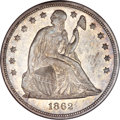 Seated Dollars, 1862 $1 MS64 NGC....