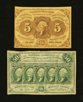 Fractional Currency:First Issue, Fr. 1230 5¢ and Fr. 1312 50¢ First Issue Notes.... (Total: 2 notes)