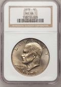 Eisenhower Dollars: , 1978 $1 MS66 NGC. NGC Census: (122/5). PCGS Population (302/5). Mintage: 25,702,000. Numismedia Wsl. Price for problem free...