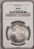 Morgan Dollars: , 1879-S $1 MS66 NGC. NGC Census: (6129/1984). PCGS Population(6528/1243). Mintage: 9,110,000. Numismedia Wsl. Price for pro...
