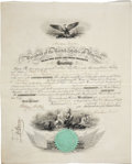 "Autographs:U.S. Presidents, Abraham Lincoln Signed Naval Appointment one page, partially printed, vellum, 15.5"" x 19.25"", Washington, D.C., February 19,..."