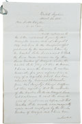 Autographs:Military Figures, Illegal American Slave Trade: Collection of Four Official Letters, all dated 1849 and 1850 and totaling seven manuscript pag... (Total: 2 Items)