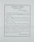 Autographs:U.S. Presidents, [James Polk] Printed Naval General Order Announcing James Polk'sDeath. Two pages, printed on first page recto only, on pal...