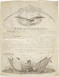 Autographs:U.S. Presidents, Franklin Pierce Military Appointment Signed and countersigned bySecretary of War Jefferson Davis. One partially-printed...