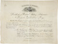 "Autographs:U.S. Presidents, Ulysses S. Grant Revenue Service Appointment Signed ""U. S.Grant"" as president. One partially-printed vellum page, 17""x..."