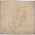 """Miscellaneous:Maps, Map of Dayton by John W. Van Cleve, 1839. This rare andearly Dayton, Ohio, lithographed map measures 34"""" x 34"""". Bel..."""