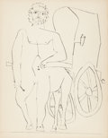 Prints:European Modern, PABLO PICASSO (Spanish, 1881-1973). Le Centaure et saCarriole, 1948. Drypoint. 13 x 10-1/8 inches (33.0 x 25.7 cm).Fro...