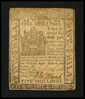 Colonial Notes:Delaware, Delaware May 1, 1777 5s Very Fine.. ...