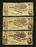 Confederate Notes:1862 Issues, T44 $1 1862.. ... (Total: 3 notes)