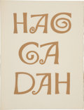 Books:Signed Editions, Ben Shahn. The Haggadah for Passover Copied and Illustrated byBen Shahn. Paris and London: The Trianon Press, [1966...