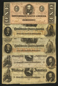 Confederate Notes:Group Lots, Miscellaneous Group of Confederates. ... (Total: 5 notes)
