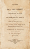 Books:First Editions, [Meriwether] Lewis, and [William] Clark. History of theExpedition under the Command of Captains Lewis and Clark, tothe...