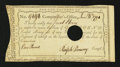Colonial Notes:Connecticut, Connecticut Interest Certificate with Printed Denomination £1 Jan.6, 1790 Anderson CT 52 Very Fine....